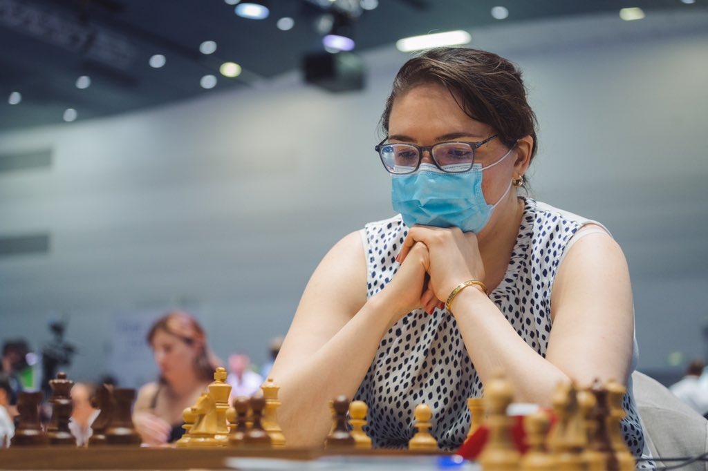 test Twitter Media - First result of the day: Nana Dzagnidze managed to come back and win her game against Polina Shuvalova! She will battle with Polina once again tomorrow in the Round 4 tiebreaks for a spot in the Quarterfinals of the Women's #FIDEWorldCup https://t.co/SnBnCRosLH
