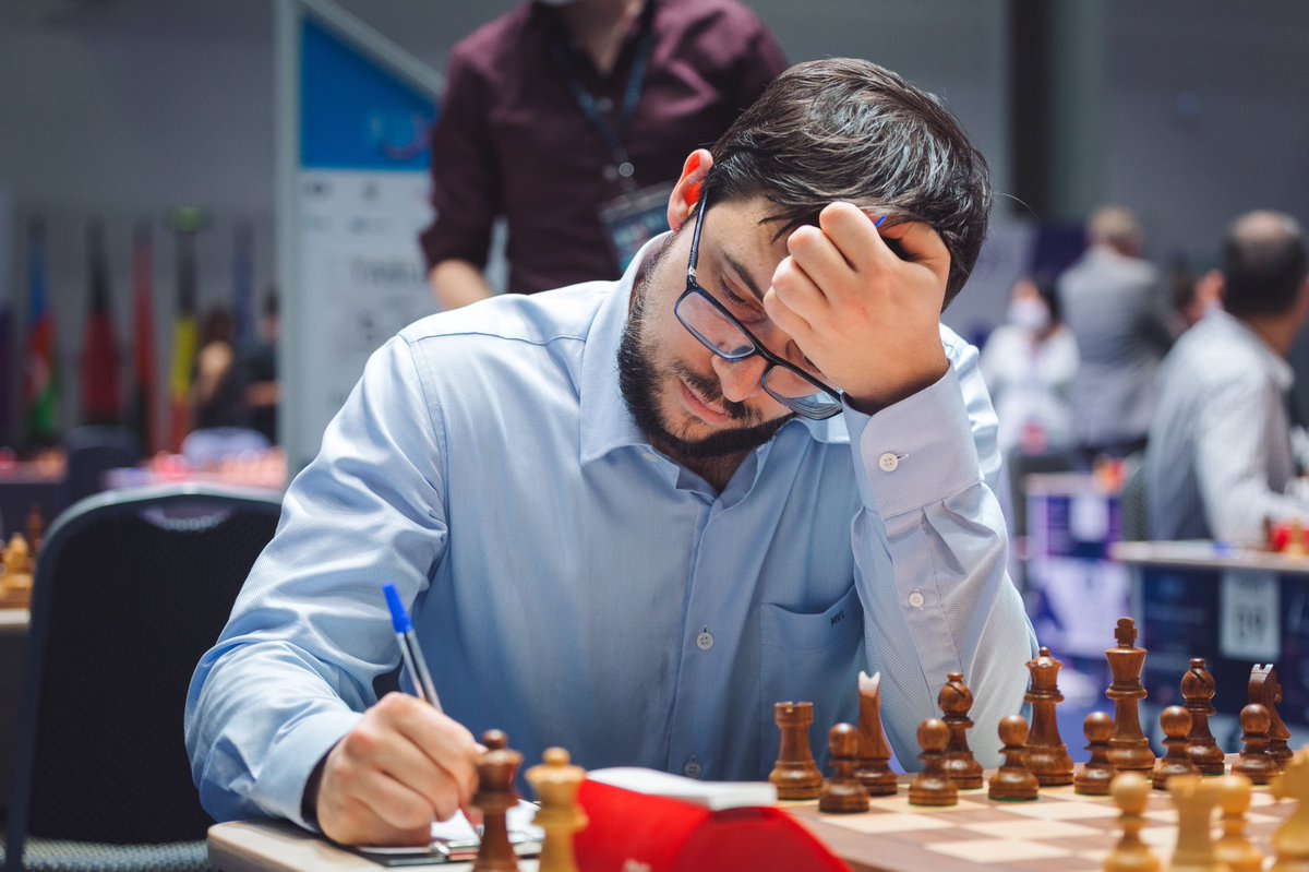 test Twitter Media - Maxime Vachier-Lagrave won a spectacular game against the Indian prodigy Praggnanandhaa and advanced to Round 5. #FIDEWorldCup https://t.co/UgilVA7wMT
