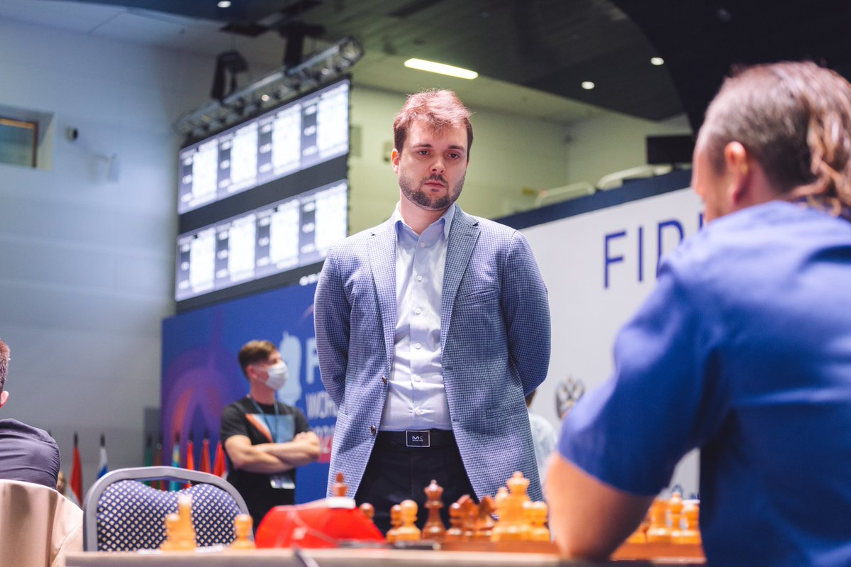 test Twitter Media - Vladimir Fedoseev, was another winner in Day 2 of Round 4, beating Vladislav Kovalev and eliminating him with a 2-0 score! Vladimir, with only one draw so far, has now moved to Round 5 of the #FIDEWorldCup without a single tiebreak! https://t.co/FAZ0zu5v7J