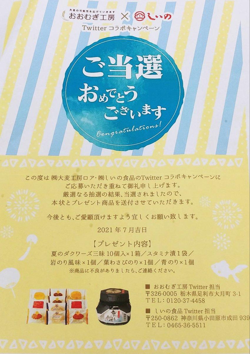 test ツイッターメディア - おおむぎ工房様 (@oomugimaruko) しいの食品様 (@shiinoshokuhin) の コラボCPに当選しました🎉  🌾夏の大麦ダクワーズ三昧 1度頂いたことがありますが サクふわ感に改めて驚き😊 どのお味のクリームも 生地と美味しくマッチしていて やみつきでした💓 香りも豊かで 食欲をそそられます🌿  ⤵︎ ︎続 https://t.co/OSF6WG6R53