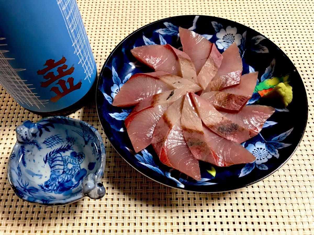 test ツイッターメディア - 日本酒のんでく🍶 ハマチのお造りを立山の本醸造で🐟 https://t.co/2CZ656AelM