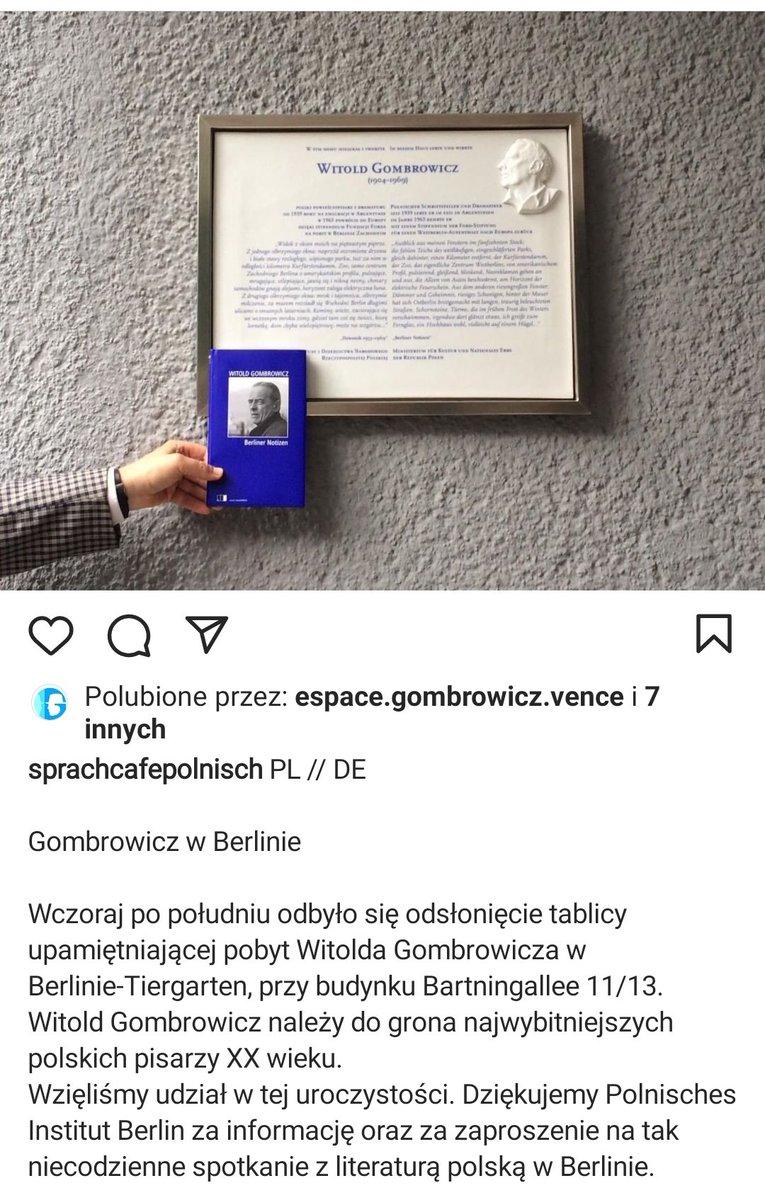 #Gombrowicz w Berlinie https://t
