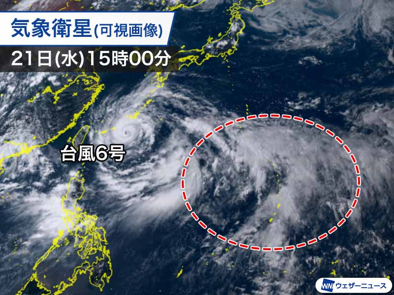 test ツイッターメディア - <新たな熱帯低気圧の発生に注目> 日本のはるか南海上では対流活動が活発になっており、積乱雲が次々に発達しています。新たな熱帯低気圧が発生しないか注目のエリアです。 https://t.co/VEOwcg0d2V https://t.co/5p2wLrJY3r
