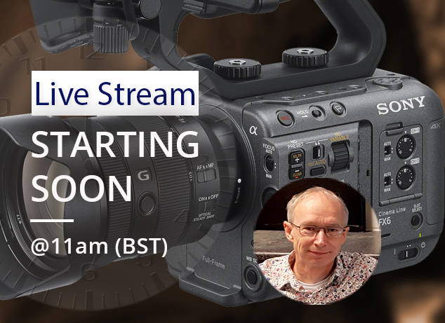 Our Sony FX6 Masterclass Live Stream with Alister Chapman is starting soon.