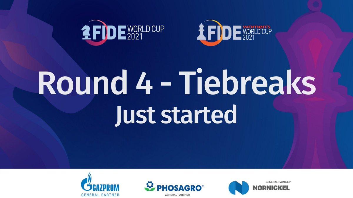 test Twitter Media - 🇷🇺Goryachkina 2596 - 🇧🇬Stefanova 2470, 🇵🇱Wojtaszek 2687 - 🇳🇴Carlsen 2847, 🇰🇿Saduakassova 2500 - 🇷🇺Kashlinskaya 2494 and 🇷🇺Artemiev 2704 - 🇷🇺Karjakin 2757 and the rest of the games of Round 4 #FIDEWorldCup Tiebreaks just started.   Watch live on: https://t.co/Qt02D2phxI https://t.co/PVHhwzAned