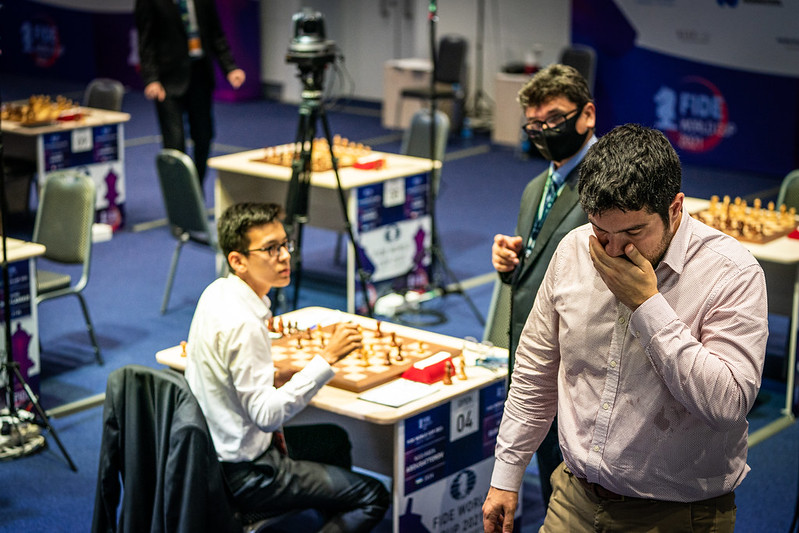 test Twitter Media - The #FIDEWorldCup is tough... and we've got 12 tiebreaks coming up today, with another 12 players set to leave! Round 4, Day 2 report:   https://t.co/S1JGo9ADLx   #c24live https://t.co/HVvjRGuzZG