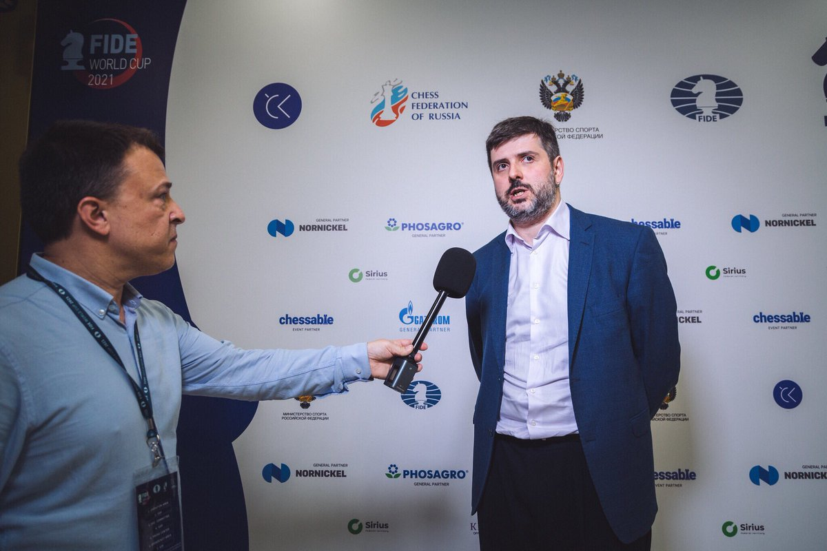 """test Twitter Media - """"I have all the respect in the world for Nikita, we worked on chess quite a lot in the past, and I know how good of a player he is! I didn't expect to have an easy match... I didn't have an easy match, but I am happy to have gone through."""" - @polborta  https://t.co/LltJNaTum8 https://t.co/Eypgcq9JZd"""
