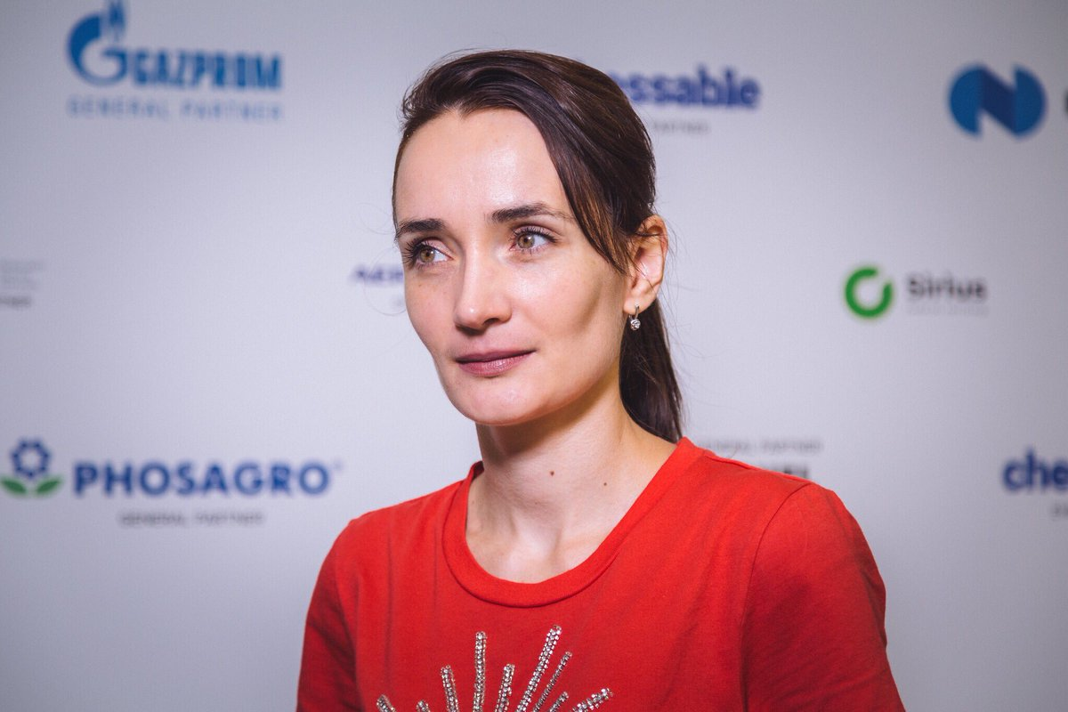 """test Twitter Media - """"For me, it's much more interesting to play in over-the-board tournaments, so I am happy to play here!"""" - Kateryna Lagno  Watch Kateryna's post-game interview: https://t.co/3lLXFpcWgi https://t.co/2ZW9ydRuMg"""