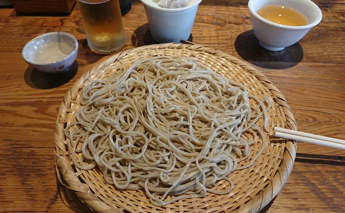test ツイッターメディア - 久しぶりに日本橋の蕎麦屋でランチ。 辛味そば大盛りと日本酒。 https://t.co/21Xgt2dgUv