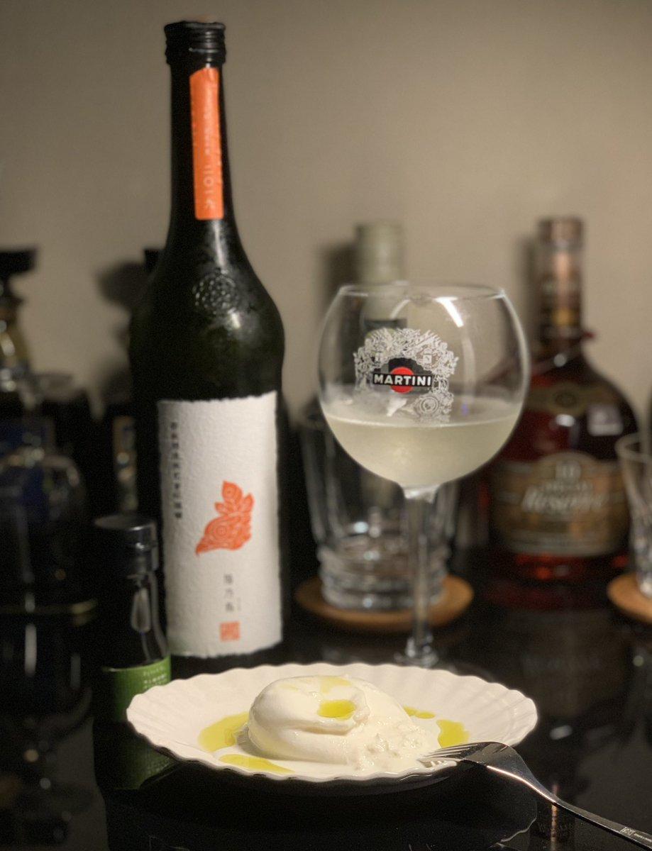 test ツイッターメディア - やっぱり日本酒は、断然キレ辛が好きだけど、このマリアージュはいいね✨  #新政 #陽乃鳥 #ブッラータ https://t.co/iGmBonKvkG
