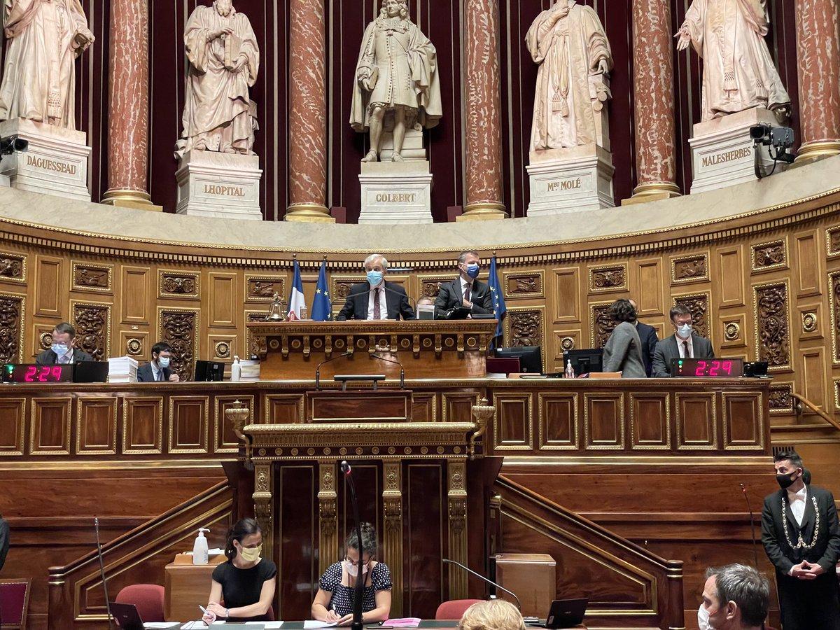 RT @Capo_Canellas: 21h15 #PassSanitaire la séance reprend au @senat sur les conclusions #CMP