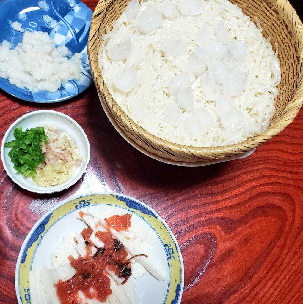 test ツイッターメディア - オリンピック見ながら夕ごはん。 稲庭うどん、長芋と梅干し、アジの塩焼き、しじみの赤だし、白馬錦。雑だな。 #ご飯 #ありのままの夕ご飯 https://t.co/orfRaX4Zqf