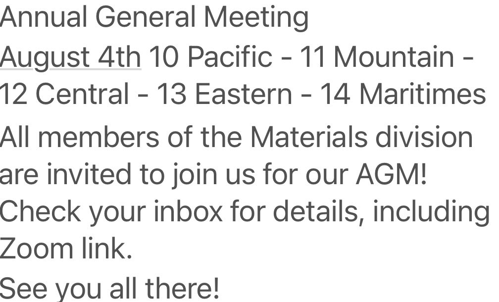 test Twitter Media - Mark your calendars and join us for the CIC Materials Division AGM. https://t.co/rQHW6RLeK2