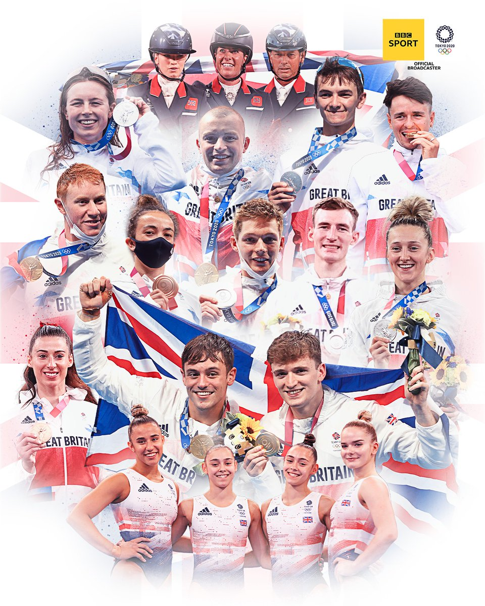 RT @BBCSport: .@TeamGB has secured its best ever start to an Olympics Games!   🥇🥇🥇🥇 🥈🥈🥈🥈🥈 🥉🥉🥉🥉  👉 https://t.co/wRuCjyw7i4  #bbcolympics #Tokyo2020