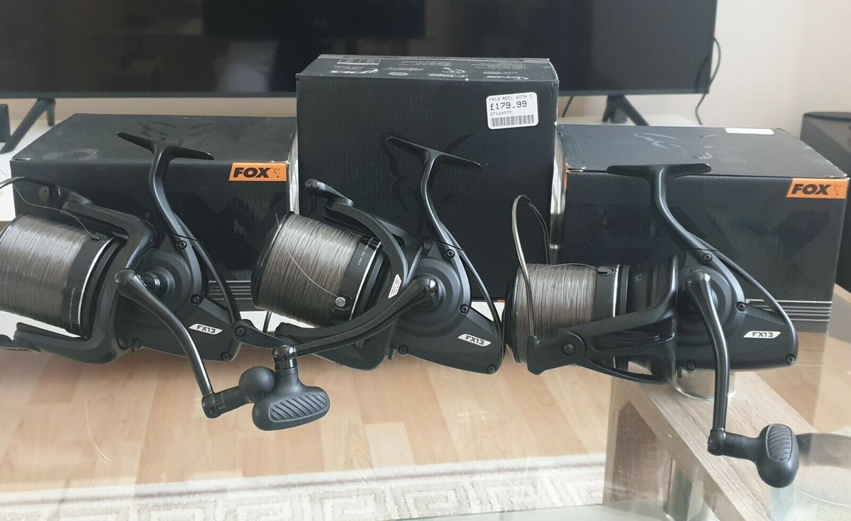 Ad - 3x Fox FX13 Reels with boxes On eBay here -->> https://t.co/FidG2LxnLH  #carpfishing #fis