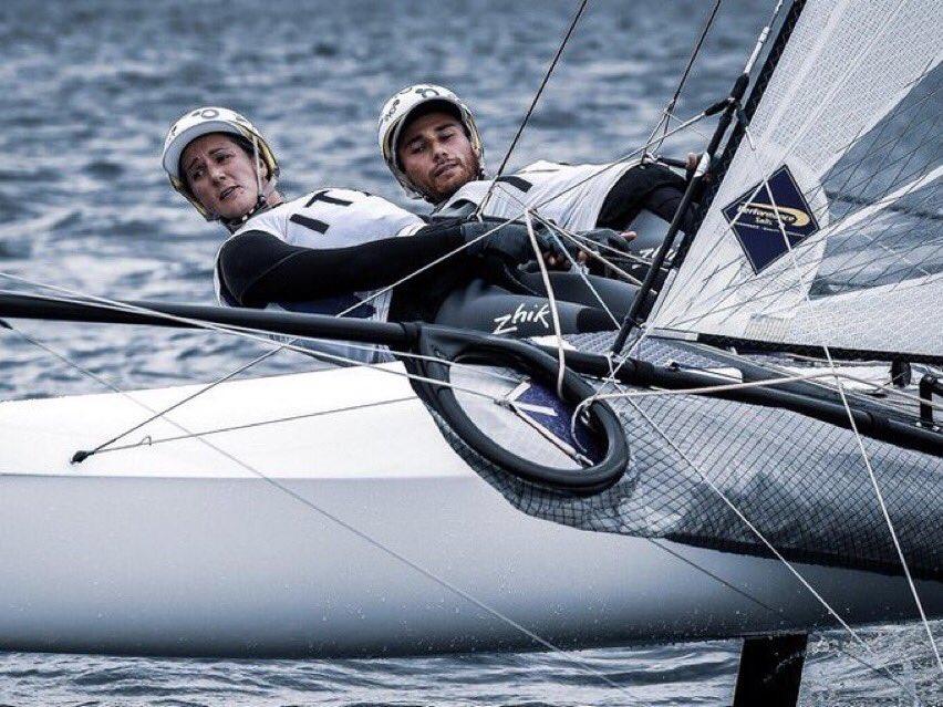 test Twitter Media - La nostra Caterina Banti con Ruggero Tita sono al 1o posto dopo 6 regate del #Nacra17. Avanti così!  💪💪💪🇮🇹🇮🇹  @CCAniene @Webuild_Group #Tokyo2020 #Sailing #OlympicGames #ItaliaTeam https://t.co/bhfT7LbFxO