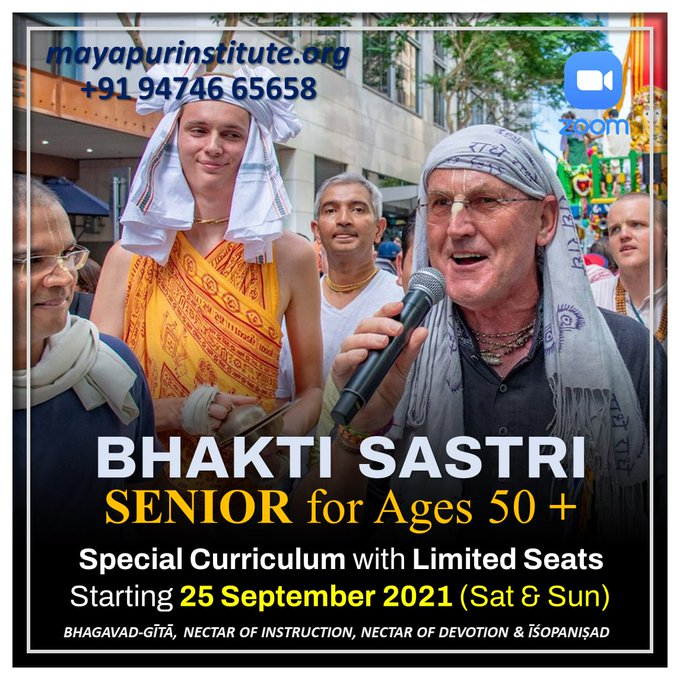 Join BHAKTI SASTRI Online starting from 25th September 2021Every Saturday and Sunday   7 AM - 10....