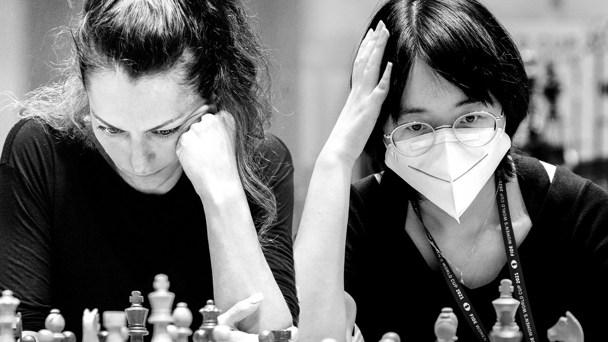test Twitter Media - Both matches on the first day of the Semifinals in the Women's #FIDEWorldCup ended in a draw. - 🇷🇺Goryachkina - 🇺🇦Muzychuk A. and 🇷🇺Kosteniuk -  🇨🇳Tan will resume their fights tomorrow at 2:00PM CEST. https://t.co/hXgi9QaVT8