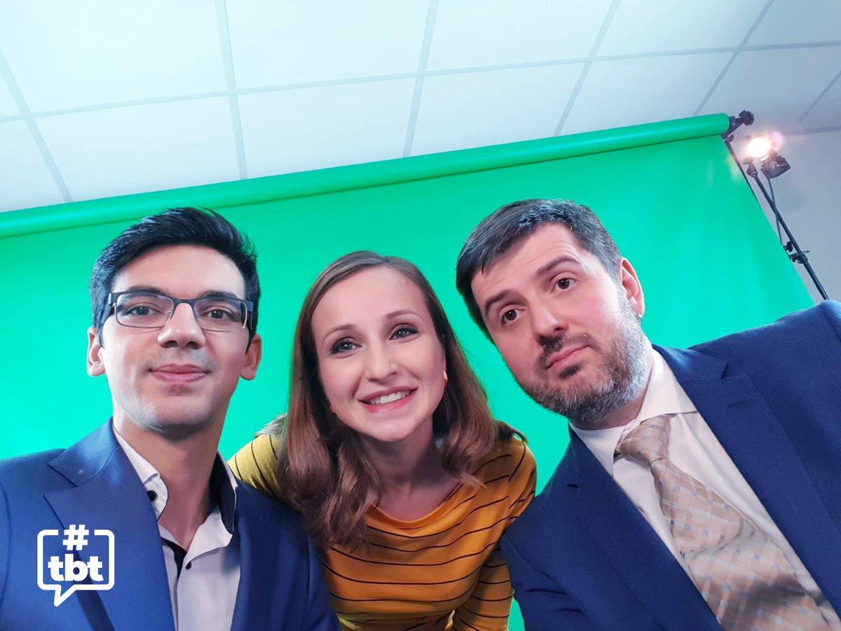 test Twitter Media - Throwback selfie with @anishgiri, @Sopiko20 & @polborta during the last World Chess Championship in 2018 (Carlsen v. Caruana). Anish and Sopiko will continue their groundbreaking commentary on the #FIDEWorldCup tomorrow. Watch here: https://t.co/LTayS9in3n #CoupleGoals #TBT https://t.co/8oYKbEPcuC
