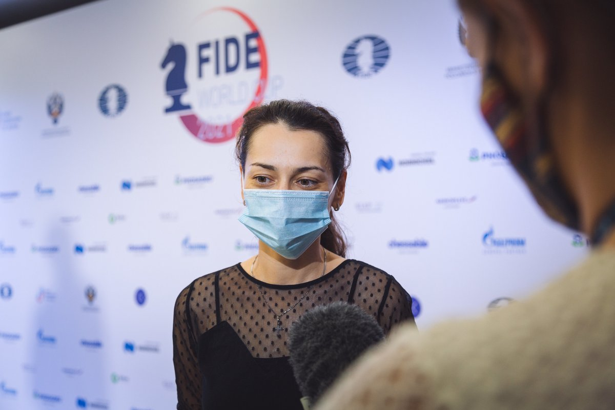 """test Twitter Media - """"It wasn't an easy match but, as in the previous ones, I was lucky to finish it in the classical part, so I don't need to go to the tiebreaks. Of course, that saves energy""""  - Alexandra Kosteniuk in her post-game interview. #FIDEWorldCup  https://t.co/YXfWGFZqEI https://t.co/ELuPjb0I7a"""
