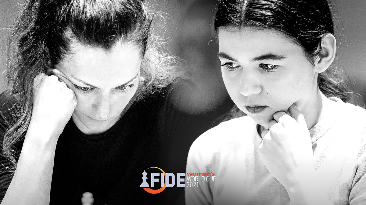 test Twitter Media - Russian Grandmasters Alexandra Kosteniuk and Aleksandra Goryachkina are the finalists of the Women's #FIDEWorldCup 2021, while Tan Zhongyi and Anna Muzychuk will battle it out for 3rd place.  The Finals start at 2:00 PM CEST on Sunday. https://t.co/IHvKZtoBPz