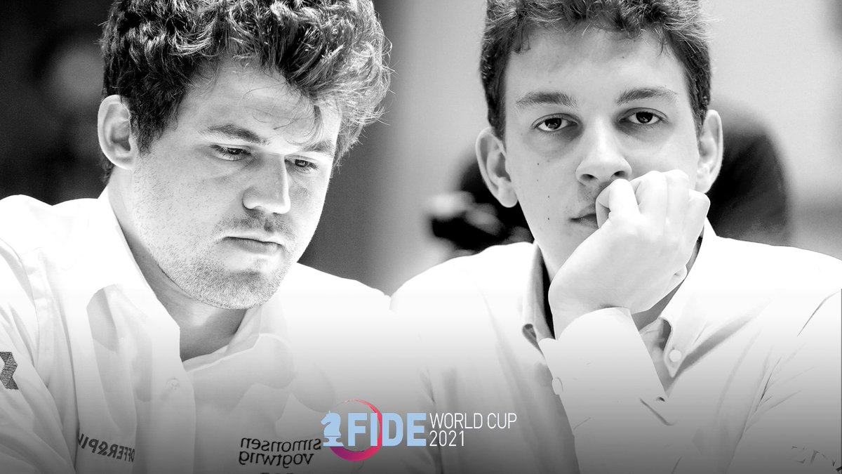 test Twitter Media - Four players remaining in the #FIDEWorldCup. These are the Matches of the Semifinals:  🇳🇴Carlsen - 🇵🇱Duda 🇷🇺Fedoseev - 🇷🇺Karjakin https://t.co/8NYouWfnxm