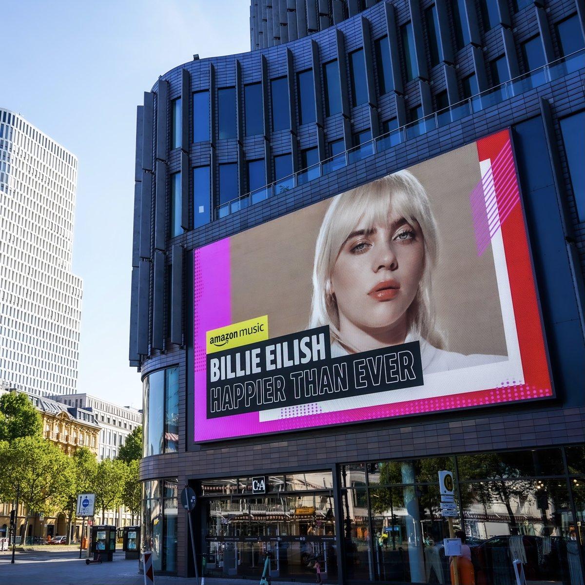 "Billie Eilish - ""Happier Than Ever"" Listen to the new album now on @amazonmusic. https://t.co/zcYSh7osZk https://t.co/ZubkRtdy0U"