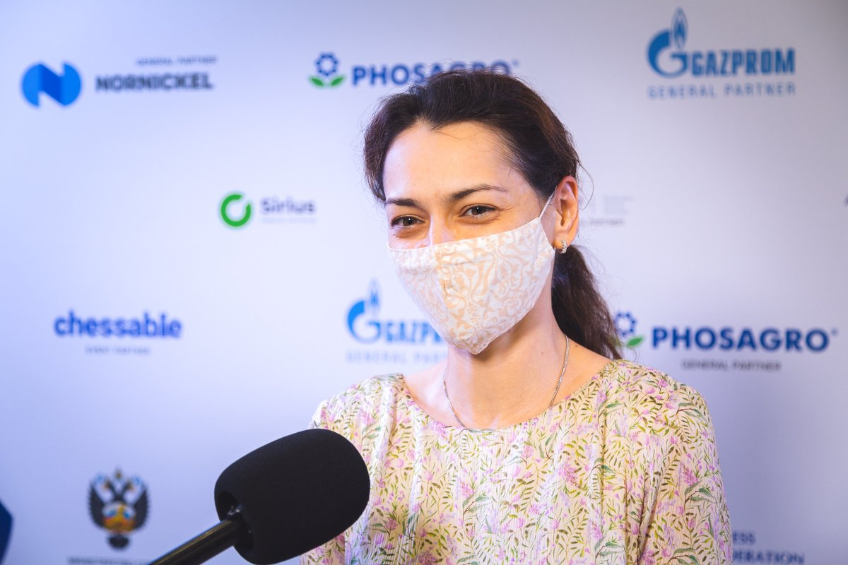 """test Twitter Media - """"I don't think that I am fresh but when you're winning it is a little bit easier.""""  Interview with the leader of the women's final Alexandra Kosteniuk: https://t.co/T8tu2JzJM9  #FIDEWorldCup https://t.co/4NEwv3DR7I"""