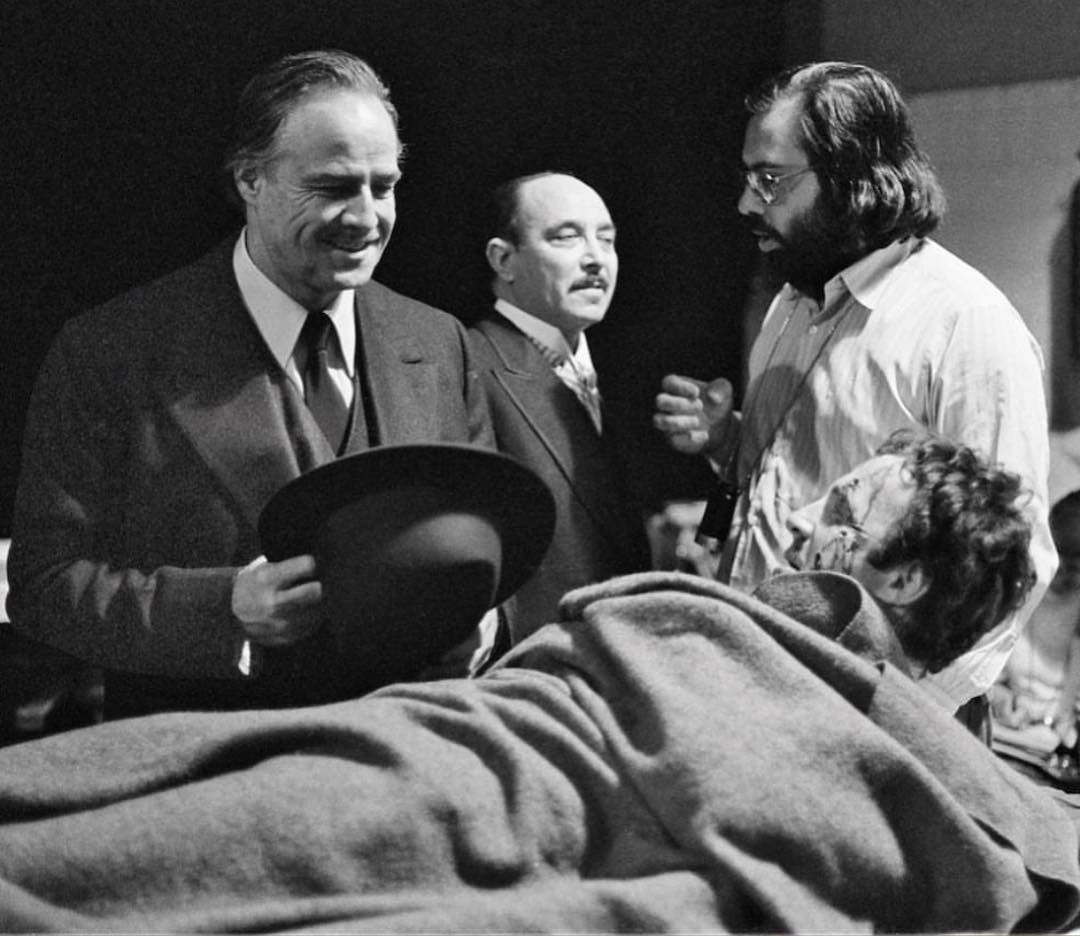 In between takes on THE GODFATHER.. https://t.co/6vdFCszySC