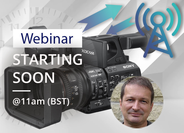 Part 1 of our Camera-persons guide to Wireless Networking webinar with Neil Thompson is starting soon.