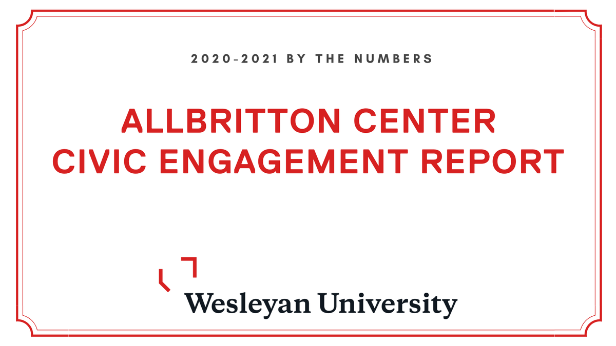 test Twitter Media - We just released our 2020-2021 Allbritton Center Civic Engagement Report! Despite a challenging year, our team made an impact at Wesleyan and in the larger community. Read the full report here: https://t.co/XmonOt0zgq https://t.co/nNBntpw7rU