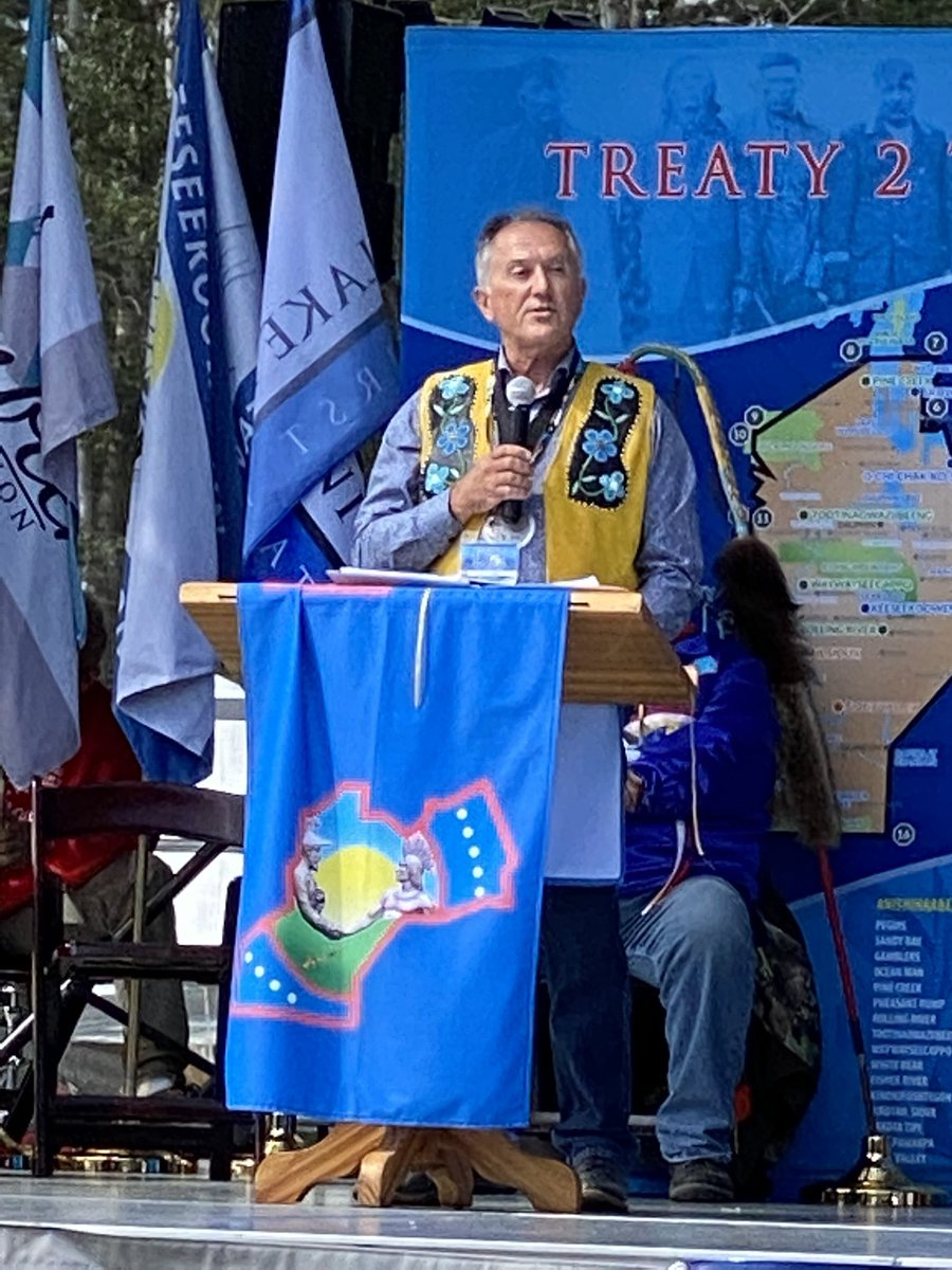 test Twitter Media - Minister @AlanLagimodiere brings greetings at the 150th Anniversary ceremony of the signing of Treaty 2 on the territory of the Anishinaabek in Riding Mountain National Park. #mbpoli https://t.co/zOnu9hSGK7