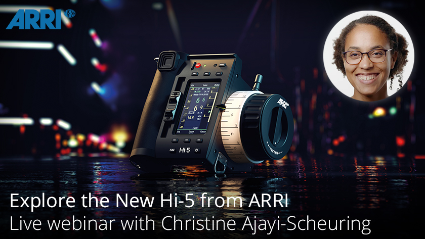 Join ARRI's Christine Ajayi-Scheuring as she explains the practical benefits of the new Hi-5 handheld controller from ARRI and how it will help to make your life easier on set. Register at the link below.