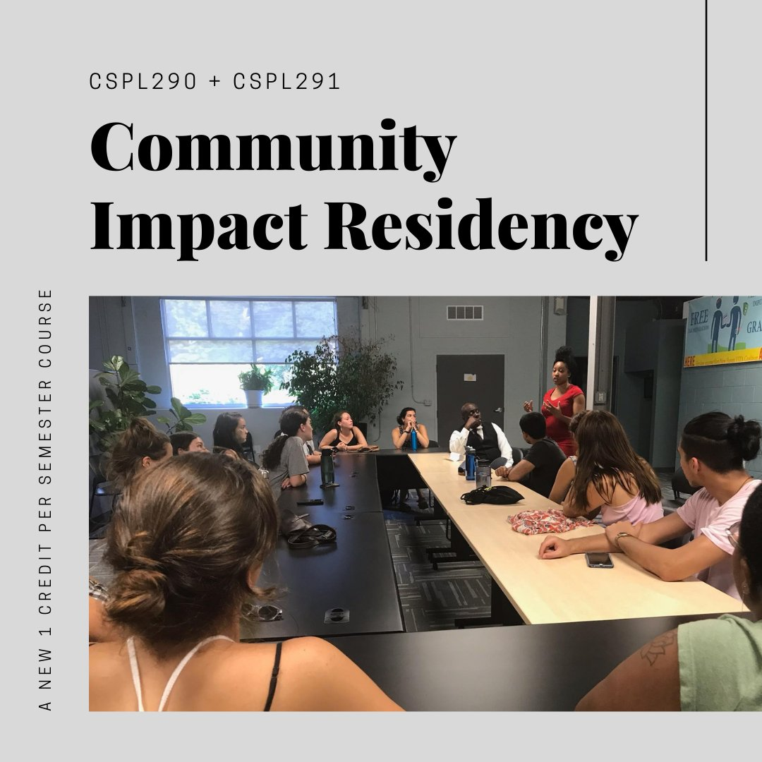 test Twitter Media - Formerly the Nonprofit Board Residency, the Community Impact Residency (CSPL290+291) connects students to local organizations and municipal partners to work on a project for the academic year. Learn more and apply here: https://t.co/Gib1hF1ysy https://t.co/DPRsrhIWJk