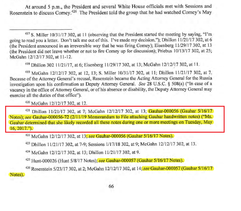 """Republican lawmakers should be asking about Rosenstein aide DAAG Tashina Gauhar.  Did Rosenstein order Tashina to write a 5/16/17 memo about a 5/8/17 meeting on the firing of Comey?   Mueller appointed on 5/17/17 - the day after Tashina's """"obstruction memo"""""""