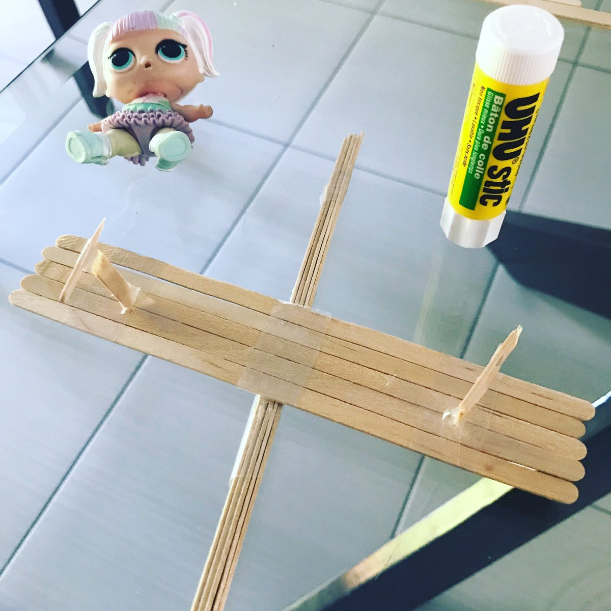 """test Twitter Media - """"I made a teeter totter."""" """"How creative! How many sticks did you use?"""" """"Ten whole sticks and four pieces."""" """"How many whole sticks would the four pieces make?"""" """"I think one whole but I made a mistake so I actually used two."""" #everyonecanlearnmath #tmwyk  #lolsurprisedolls https://t.co/sMdcdxtwSC"""