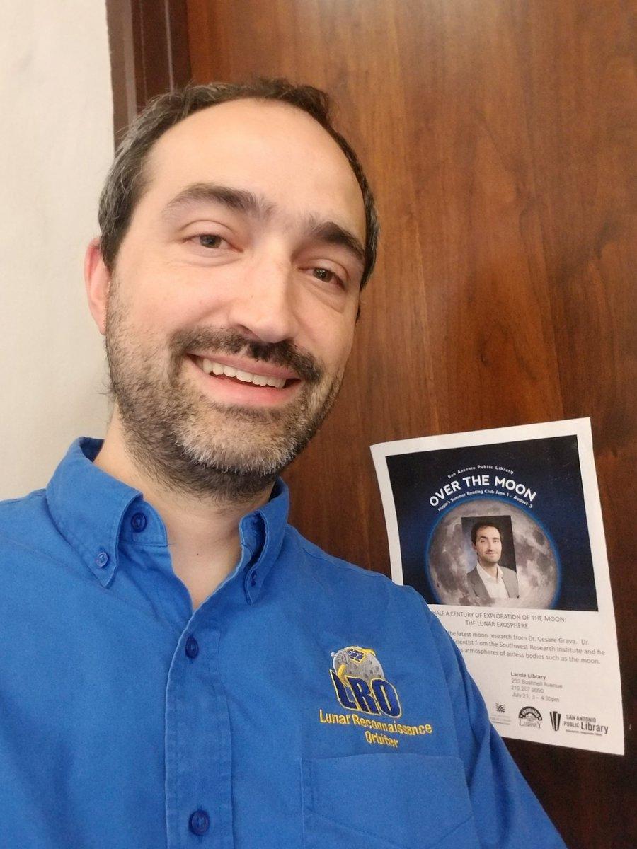 Yes, I believe it's me 😎🌚 #Moon #Apollo50th #apollo11anniversary #LRO #Landa #SanAntonio https://t.co/GpLP7LTNJH