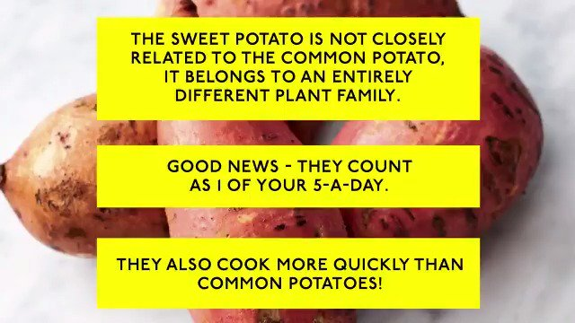 And this is why sweet potatoes are better than normal potatoes...agreed?? ???????? #JamiesVeg #MeatFreeMonday https://t.co/vQjgdPl8GH