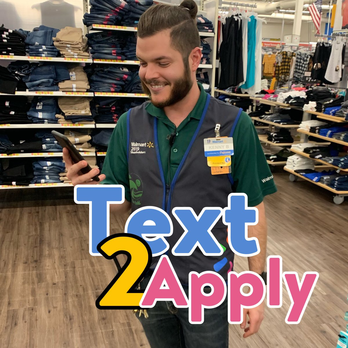 "Are you looking for a job that will jump start into a career? Look no further than here! With great Benefits, health care, and attendance bonuses there is no better place than this place! Text ""jobs"" to 240240 to find out all about it! #Text2Apply  #TeamWalmart"