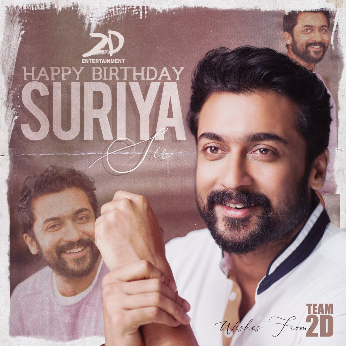 Happy Birthday to our source of strength and the most charming @Suriya_offl sir ❤ May this year bring you all success and happiness! Soar high with #SooraraiPottru 🤘🏻 #HappyBirthdaySURIYA