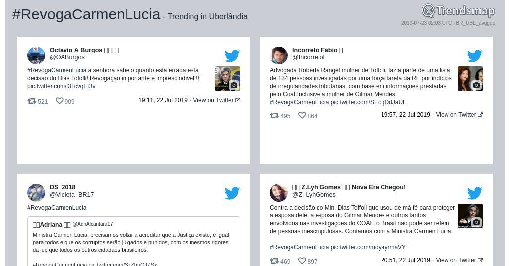 RT @TrendUberlandia: #revogacarmenlucia é tendência em #Uberlândia  https://t.co/N54MHNmHzk https://t.co/duJswvVsTR