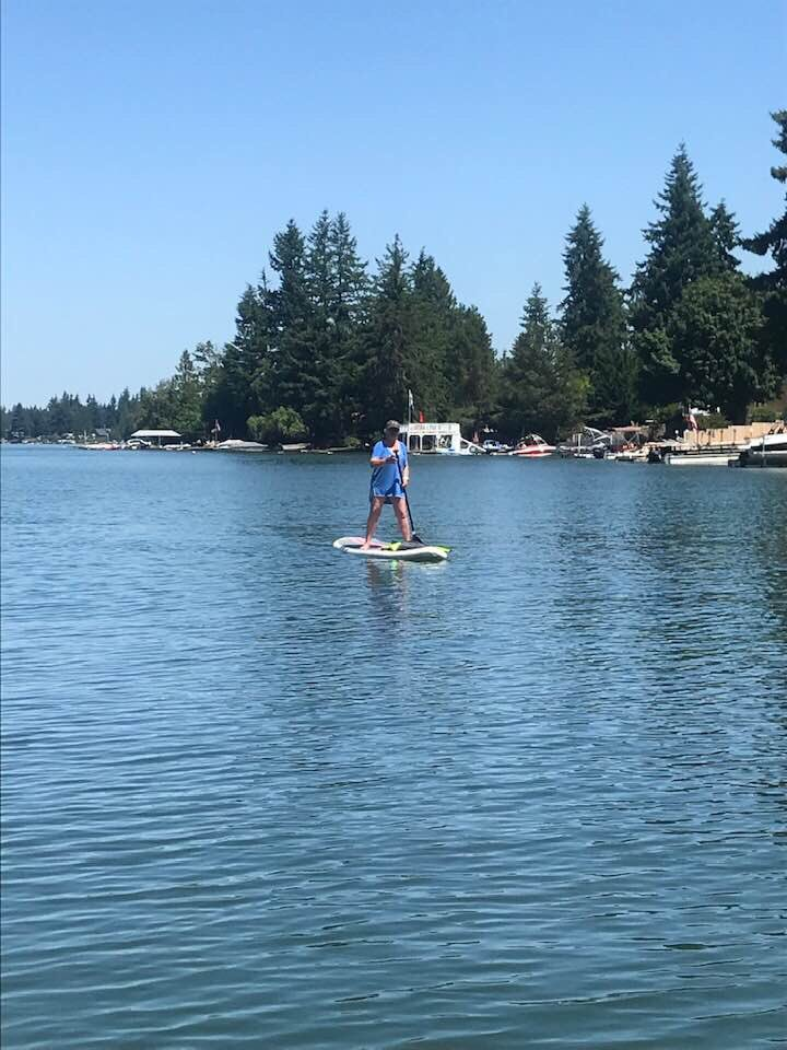 test Twitter Media - Improving my paddle boarding. Next step: start training my doggies to go with me. https://t.co/VnD5BkkzrT