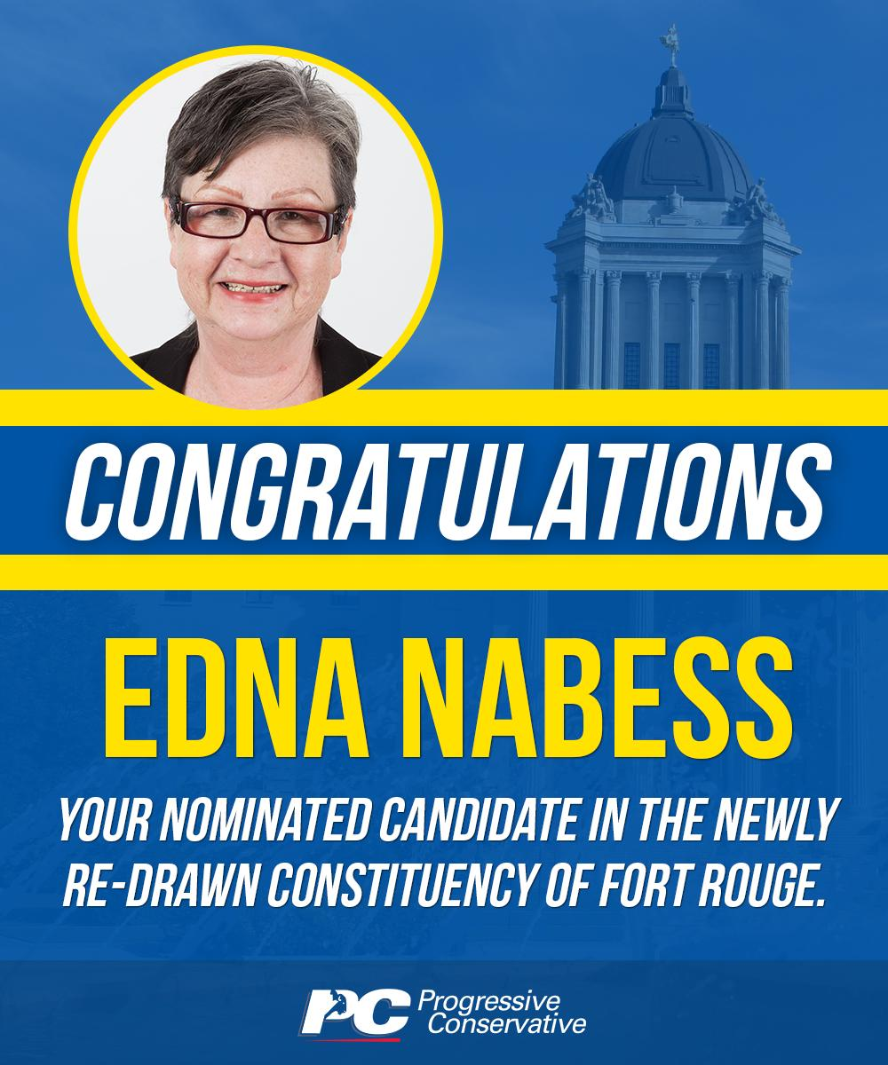 test Twitter Media - Edna has a strong background in small business and entrepreneurship, and has received numerous awards and accolades. She has been nominated to run against NDP leader Wab Kinew in Fort Rouge. Congratulations, Edna!   Learn more: https://t.co/5ZJmqvPXL4  #mbpoli #BetterMB https://t.co/V5NYP1Ch3X