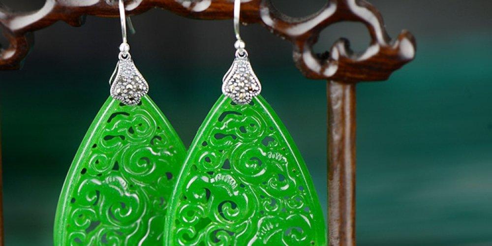 #hashtag2 925 Sterling Silver Green Jade Hollow Flowers Earring https://t.co/vDV3eHm1D2 https://t.co/Bdp2JEMayN