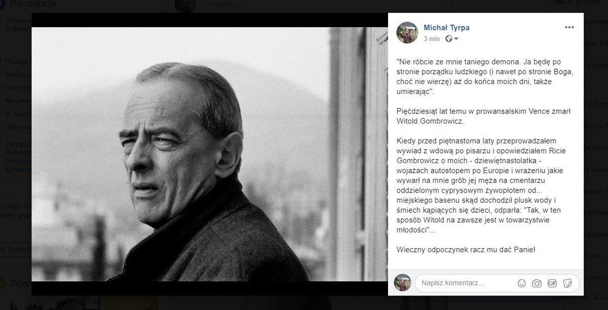50 lat temu zmarł Witold Gombro
