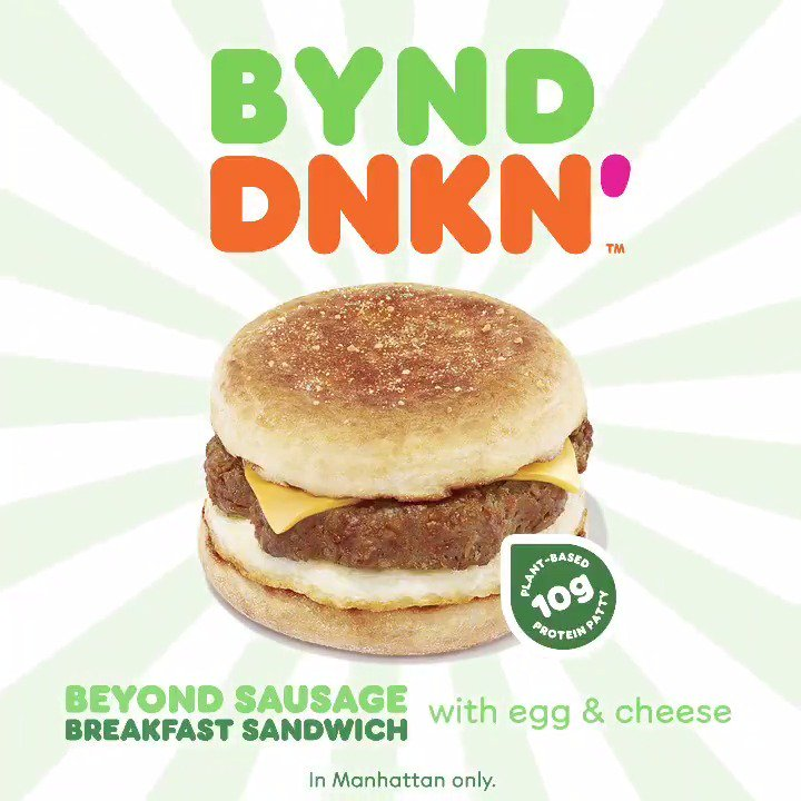 big news for the homies @BeyondMeat ???????? gotta start the day off right wit their new @dunkindonuts sandwich ! https://t.co/uiFerbUeaS