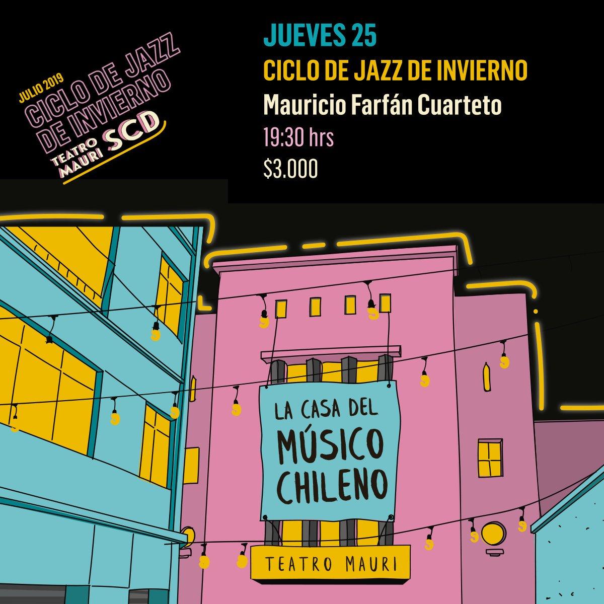 test Twitter Media - ✨Energía y virtuosismo es lo que hoy nos ofrecerá Mauricio Farfán Cuarteto en la última fecha del ciclo de jazz de invierno en Teatro Mauri SCD 🎷🎶. Panorama imperdible desde las 19:30 hrs. Revisa los detalles -> https://t.co/CzqJMBFiTY https://t.co/HXGrgh1Rdh