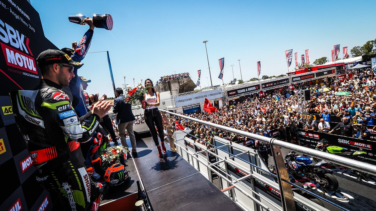 test Twitter Media - Relive the drama from Jerez as WorldSBK erupts in fierce fashion!  #ESPWorldSBK 🇪🇸  📹VIDEO | #WorldSBK  https://t.co/dESUS7qOUy https://t.co/x9lAO1SRaR