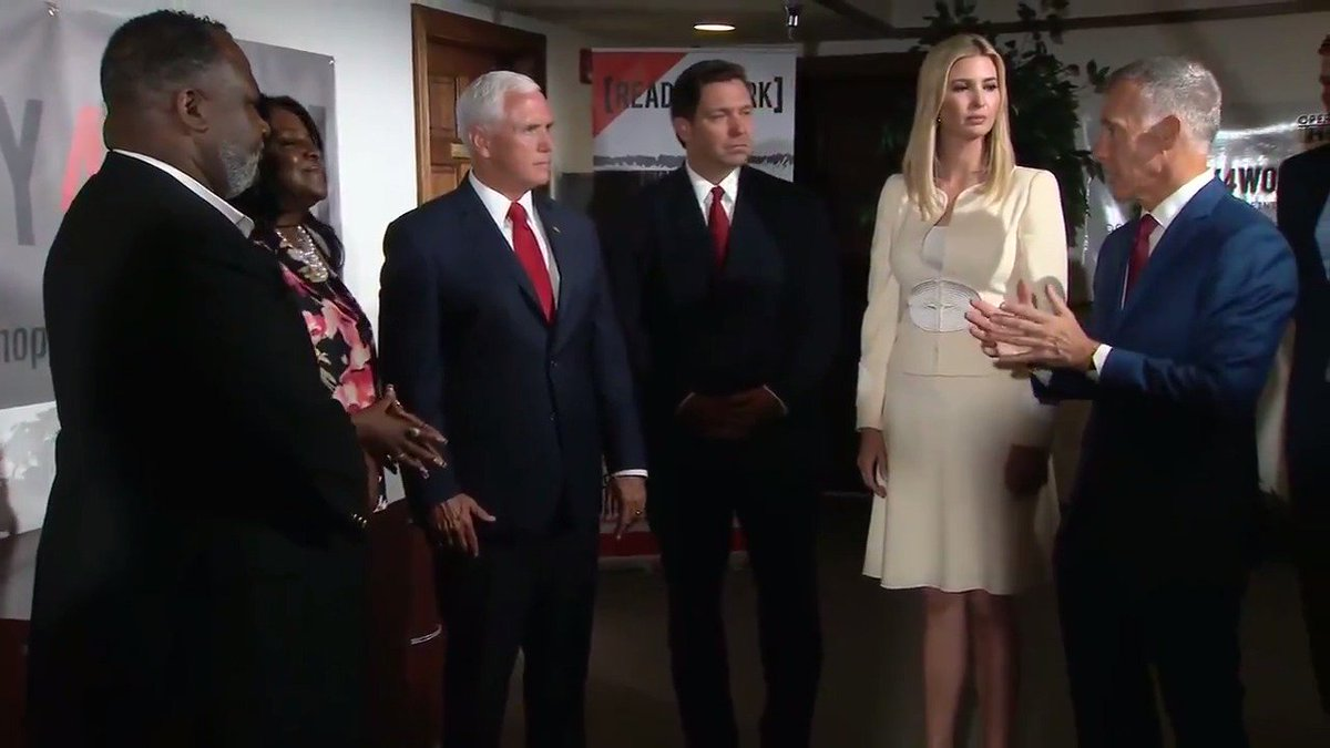 RT @thehill: .@VP Pence and @IvankaTrump visit Operation New Hope in Jacksonville, FL. https://t.co/7JaJKr4IoZ
