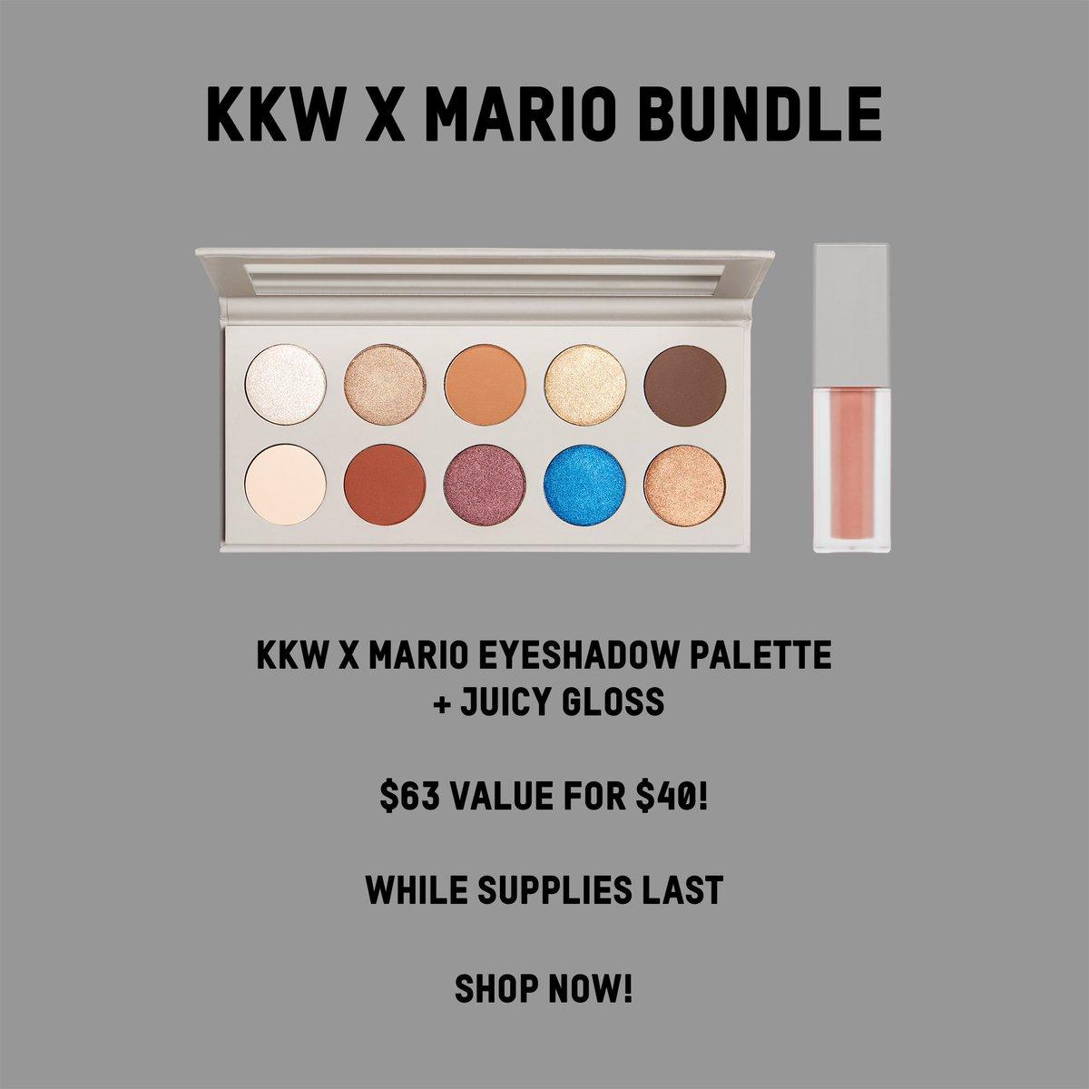 Shop my #kkwxmario eyeshadow palette & juicy gloss for $40 at https://t.co/aIjp1MBlpZ✨ I love this bundle!!! https://t.co/ULpKLzV6vM